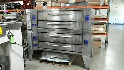 Used Y-600 Bakers Pride Double Deck Pizza Ovens Natural Gas