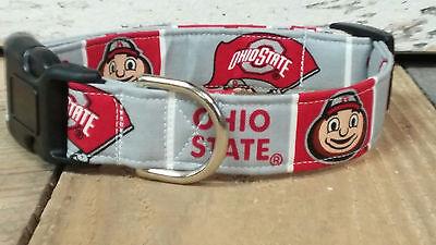 Ohio State University Dog Collar, standard, Martingale with