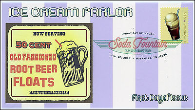 2016, SODA FOUNTAIN FAVORITES, FDC, DCP, ROOT BEER FLOATS 16-184