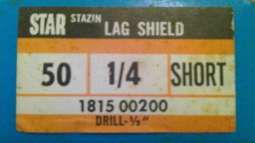 """Star 1/4 Short Lag Shield - 1/2"""" Drill (50 pcs)"""