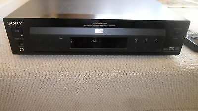 SONY DVP-S7700 REFERENCE AUDIOPHILE CD/DVD PLAYER- with Remote