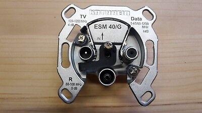 Multimediadose Antennendose Enddose Stichdose 4dB ESM 40 Kathrein Kabel-TV (Kein Kabel-tv)
