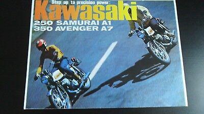 KAWASAKI 250 SAMURAI A1 / 350 AVENGER A7 COLOUR BROCHURE