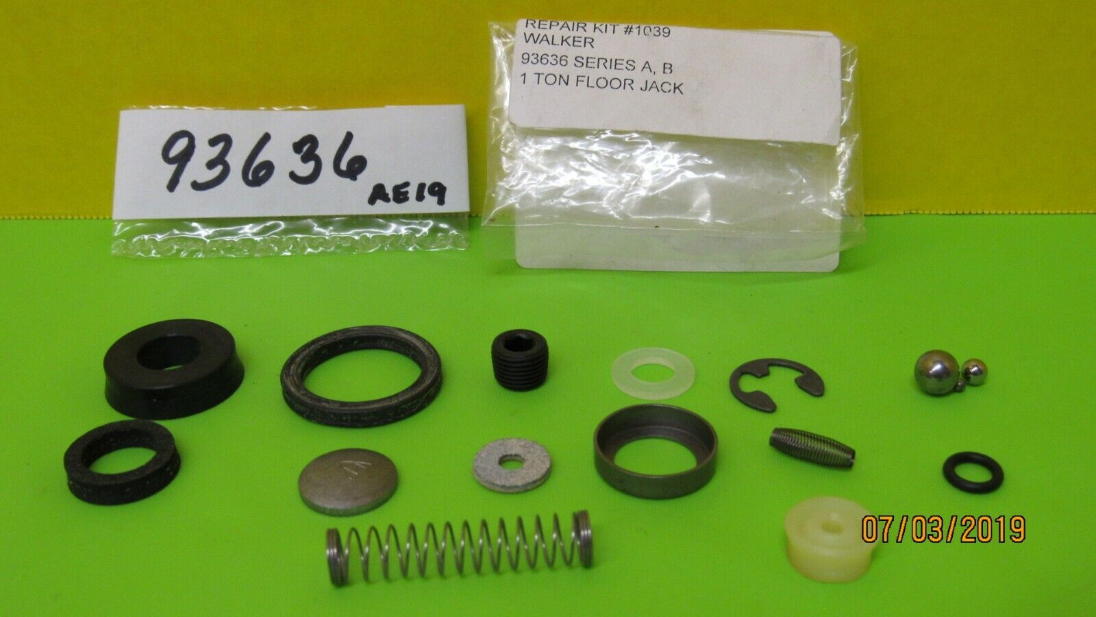 LINCOLN WALKER 93636 Hydraulic Repair Seal Kit for 1 Ton Flo