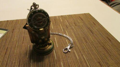 Franklin Mint Harley Davidson ARMY BIKE  Pocket Watch With Stand