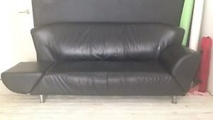Leather 3 seat adjustable chaise or normal couch - lounge - sofa Chippendale Inner Sydney Preview
