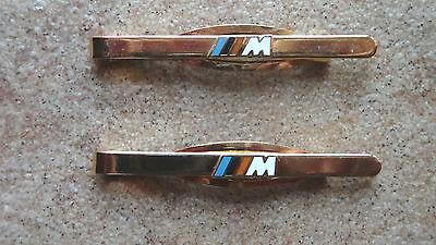 2 Stück Krawattennadel für BMW M goldfarben (3017)