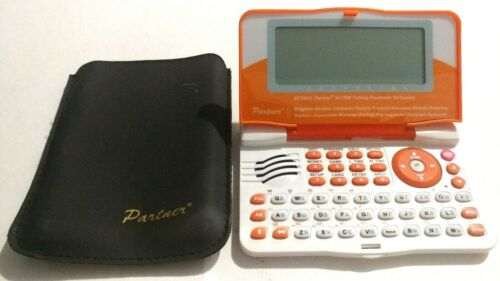 Ectaco Partner 15 Language Talking Dictionary - Model XL1500 - Tested W/ Case!
