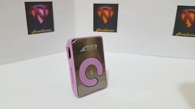 Mini Mirror Style MP3 player & accessories,great sound Purple - Absolute Bargain