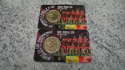 Pièce de 2,5 euros Belgique 2018 « Diables rouges » BU dans une coincard NL