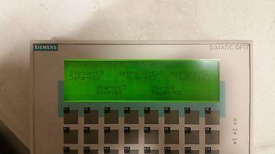 Siemens 6av617-1jc20-0ax0 Simatic Op17hmi.