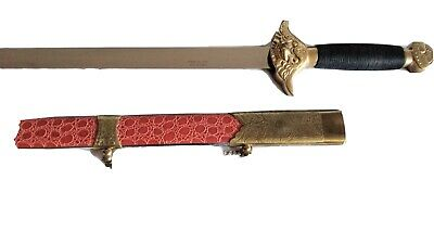 """34"""" MARTIAL ARTS STEEL TAI CHI KUNG FU SWORD Asian Chinese Training Practice"""