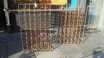 Antique Blacksmith Made Wrought Iron 120 Bottle Racks Victorian Industrial