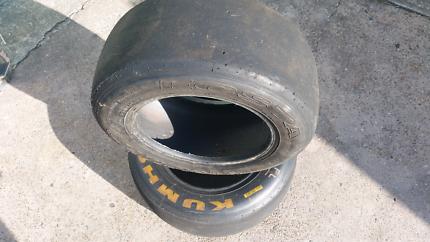 Racing tyres slicks 13 inch formula 3