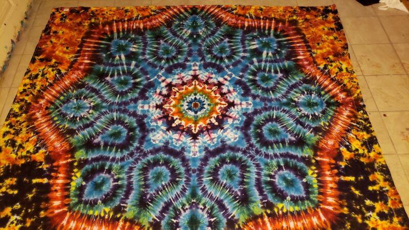 Tie dye tapestry - full sheet  - Tuber