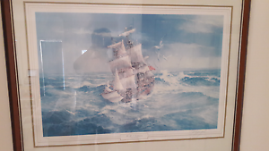 HMS Endeavour limited edition (frame included) Alexandra Hills Redland Area Preview
