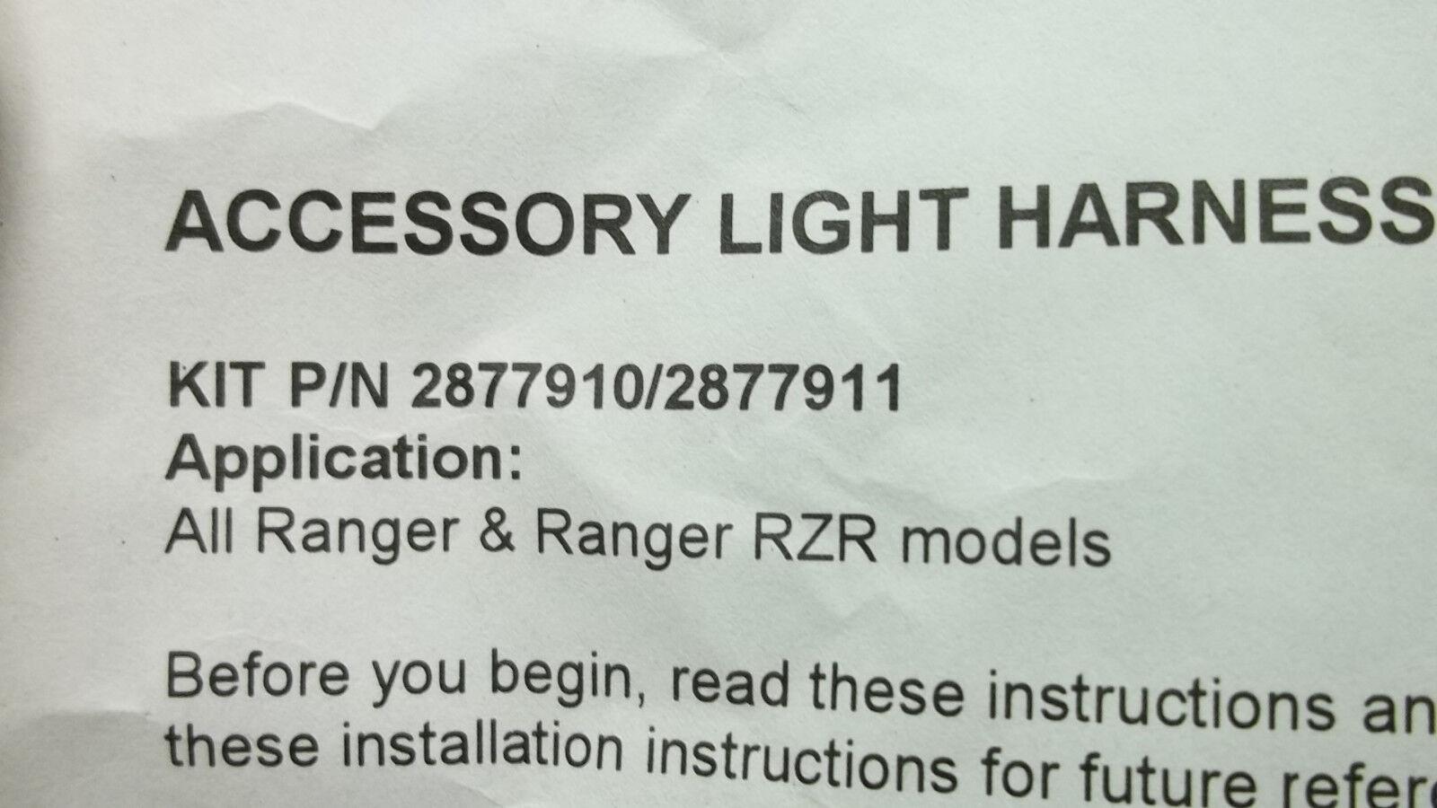 Polaris OEM NEW lamp light wire harness 2877910 RZR Ranger  #3952