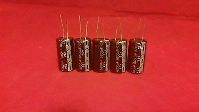 5 Pcs 6800uf 6800mfd 25v Electrolytic Capacitor 105 Degrees Us Free Ship 6800uf