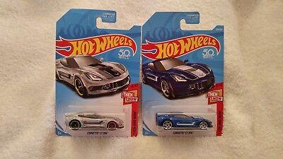 Hot Wheels 2018 Kmart Excl THEN /& NOW Corvette C7 Z06 Silver 8//10 B1