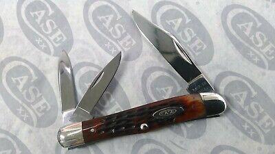 VINTAGE CASE 6308 USA ERA 1965-69 RED BONE SPLIT BACK WHITTLER KNIFE