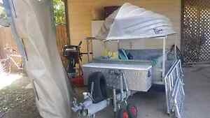 Oztrailer6  camper + 3.1 tinny + 15hp mercury o/b...price reduced Cannonvale Whitsundays Area Preview