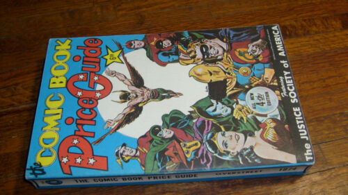 """OVERSTREET COMIC BOOK PRICE GUIDE #4, 1974, """"FINE+"""", SOFT COVER"""