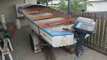 Aluminium boat with 6hp Tohatsu outboard on a galvanized trailer Gilston Gold Coast West Preview