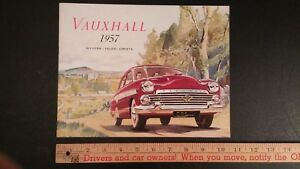 1957-VAUXHALL-Color-Dealer-Sales-Catalog-Very-Good-Condition-CDN