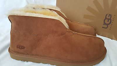 Men's UGG Neusid Chestnut Size 18 NEW Boot Suede Slippers Brown
