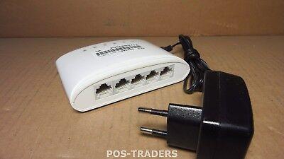 D-LINK 5-Port Gigabit Switch Mini DSL Hub RJ-45 LAN 1000MB  DGS-1005D L2 INC PSU