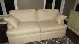Cream Couch by Wesley Hall London Ontario image 1