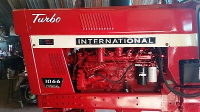 International Farmall 1066 Decals. Black Chrome. Hood And Numbers. C-details