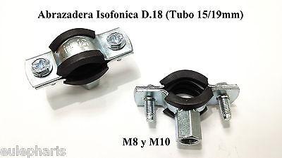 ABRAZADERA ISOFONICA D.18 M8/M10 para Tubo FONTANERIA y AIRE ACONDICIONADO Cobre