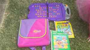 FISHER PRICE POWER TOUCH LEARNING SYSTEM WITH 2 BOOKS & CARRY Chester Hill Bankstown Area Preview