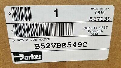 Parker B52vbe549c Solenoid 2 Pos Valve 24vdc