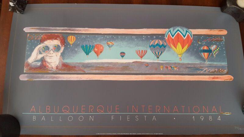 "RARE 1984""ALBUQUERQUE INTERNATIONAL BALLOON FIESTA"" POSTER NUMBERED 515/5000"