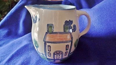 """6 3/4"""" tall farm house ice lip pitcher by M.A. Hadley pottery"""
