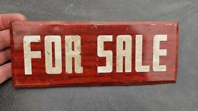 Vintage For Sale Metal Sign 1940s Faux Wood Grain General Store