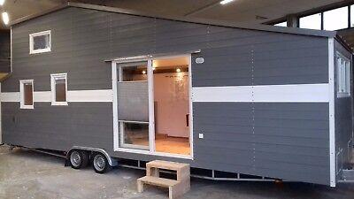 9,0 m XXL Tiny House Vermietung Probewohnen, Urlaub
