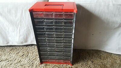 Vintage Metalplastic Top Bottom 40 Drawer Nutbolt Small Parts Storage Cabinet