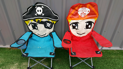 2 kid camp chairs set