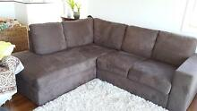 4 Seater Brown Microfibre Couch Buderim Maroochydore Area Preview
