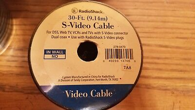 Radio Shack Bulk S-Video Cable 278-0470 - Lot 4 S-video Cable Radio Shack