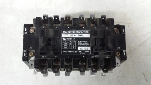 TOGAMI ELECTRIC MFG RSK-12HUL Contactor