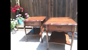 Beautiful French Provincial side tables