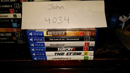 PS4 Games selling separate or as bundle Zillmere Brisbane North East Preview