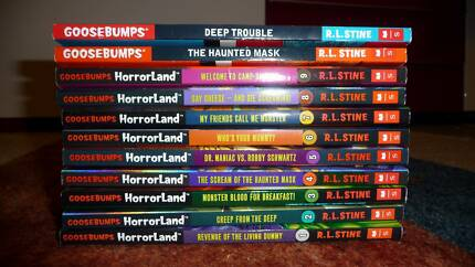 11 Goosebumps horrorland books. Excellent condition Success Cockburn Area Preview