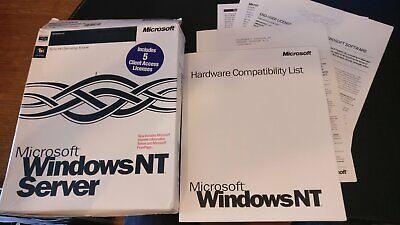 Windows NT Server 4.0 Box with documentation
