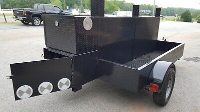 Shish Kebob Bbq Smoker 60 Grill Trailer Food Truck Mobile Catering Lock Storage