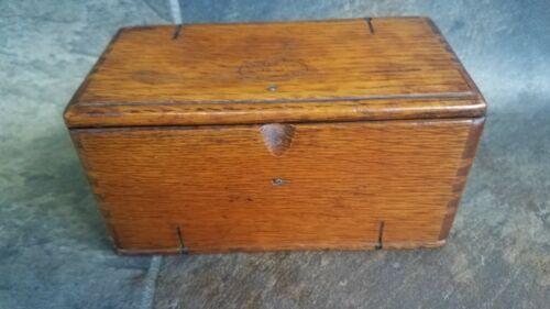 Antique Singer Oak Folding Puzzle Box for Treadle Sewing Machine Attachments